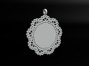 Design for pendant/earring - SK0030A in White Natural Versatile Plastic