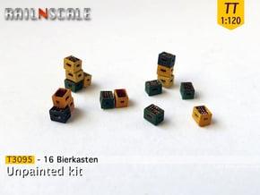 16 Bierkästen (TT 1:120) in Smooth Fine Detail Plastic