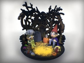 Over the Garden Wall - Shadow Projector in Full Color Sandstone
