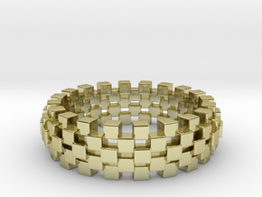 CUBINATOR Ring, US size 12.5, d=21,8 mm(all sizes  in 18k Gold Plated Brass: 12.5 / 67.75