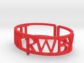 Custom Team RWBY Cuff in Red Processed Versatile Plastic