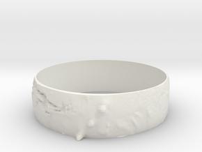 Mars Bracelet in White Natural Versatile Plastic