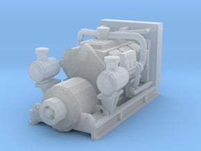 1/87th Diesel Electric Generator in Smooth Fine Detail Plastic