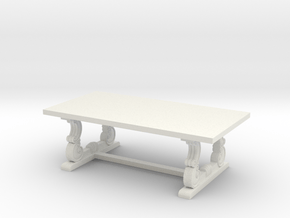 Decorative French Coffee Table in White Natural Versatile Plastic: 1:48
