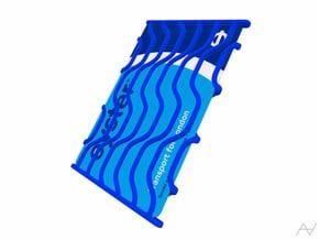 Dynamic Card Holder in Blue Processed Versatile Plastic