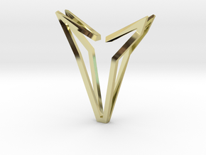 YOUNIVERSAL Simplicist, Pendant. Simplified Chic in 18k Gold Plated Brass