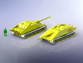 E-100 Krokodil Tank Destroyer 1/144 in Smooth Fine Detail Plastic