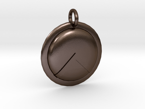 Spartan Shield Pendant/Keychain Ornament in Polished Bronze Steel