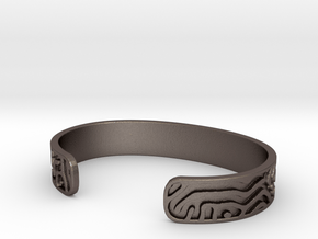 Diffusion Cuff in Polished Bronzed Silver Steel: Small