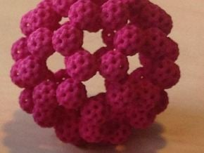 Fractal Fullerene in Pink Processed Versatile Plastic