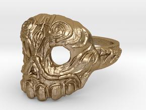Dr. Killinger Ring Size 8 in Polished Gold Steel