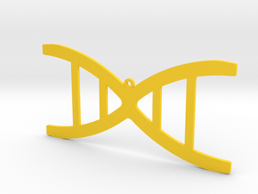 DNA necklace in Yellow Processed Versatile Plastic