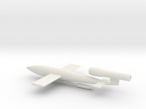 1/200 Scale JB-2/LTV-N-2 Loon Missile in White Natural Versatile Plastic