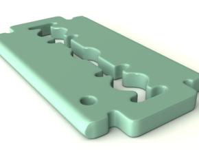 Blade Keychain in White Natural Versatile Plastic