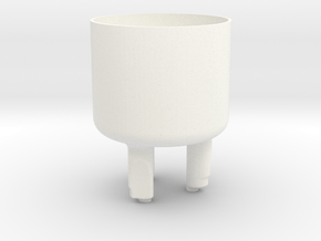 tooth cup in White Processed Versatile Plastic