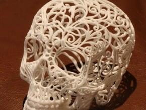 Skull Filagree v2 - 8cm in Smooth Fine Detail Plastic