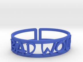 Bad Wolf in Blue Processed Versatile Plastic