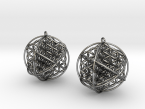 """Ball Of Life Earrings 1.5"""" in Polished Silver"""