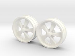 CragarSS 5 Inch pair 1/18 in White Processed Versatile Plastic