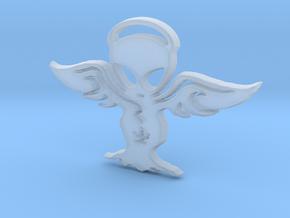 Alien angel Pendant in Smooth Fine Detail Plastic