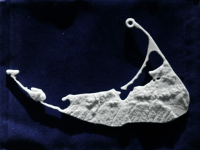 Nantucket Christmas Ornament in White Natural Versatile Plastic