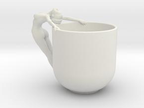 Sexy Cup in 15cm or 12cm in White Natural Versatile Plastic: Medium