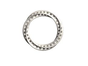 Moebius Bracelet - 2.6inch /  65mm in White Natural Versatile Plastic