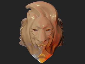 Lion Ring in White Processed Versatile Plastic
