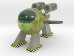 Pear Spaceship in Glossy Full Color Sandstone: Large