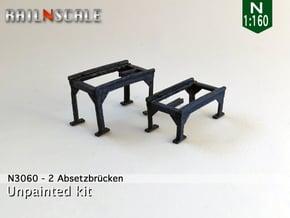 2 Absetzbrücken (N 1:160) in Smooth Fine Detail Plastic