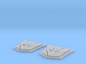 MP-10 Decepticon Trailer Logo X 2 in Smoothest Fine Detail Plastic