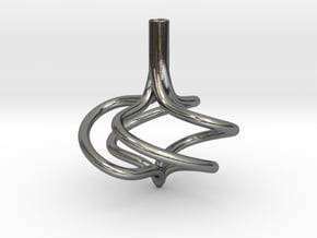 Hurricane Spinning Top (large) in Polished Silver