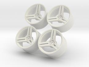 1/10 Touring Car Vossen VPS317 Wheels Set in White Natural Versatile Plastic