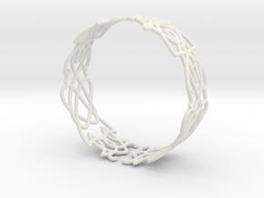 Celtic knots Cuff 2 in White Natural Versatile Plastic: Extra Small