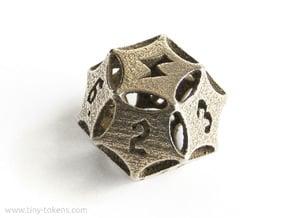 'Kaladesh' D12 Energy Counter die in Polished Bronzed Silver Steel