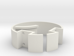 29 mm Double Switch Ring in White Natural Versatile Plastic