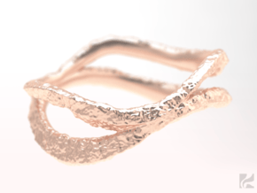 Dual Stone Ring in 14k Rose Gold Plated Brass: 6.5 / 52.75