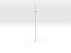 Excalibur Pendant in White Natural Versatile Plastic