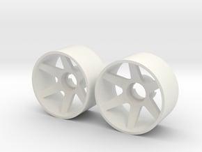 2x Llantas Mini-Z 21mm Trasera Offset 0 in White Natural Versatile Plastic