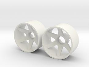 2x Llantas Mini-Z 21mm Trasera Offset 1 in White Natural Versatile Plastic