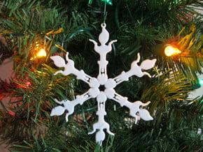 Snowflake Scrat Ornament in White Natural Versatile Plastic