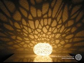 Little Voronoi Pearl Light Lamp No. 2 (8 cm) in White Processed Versatile Plastic