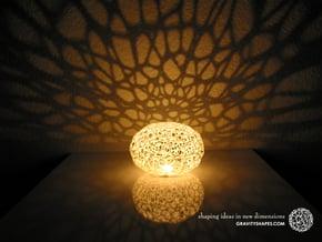 Voronoi Pearl Light Lamp No. 2 (10,5 cm) in White Processed Versatile Plastic