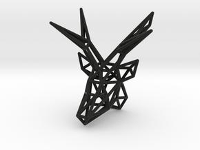 Deer Pendant in Black Natural Versatile Plastic