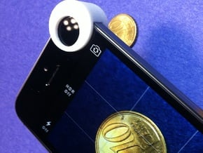 iPhone 5 and iPhone 5S Macro Lens in White Processed Versatile Plastic