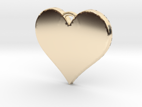With All My Heart in 14k Gold Plated Brass
