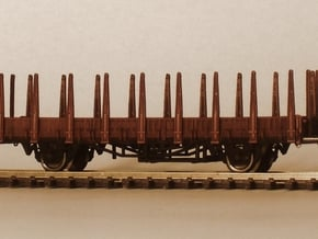 1/148 German train-ferry wagon, 40t-glw low in Smooth Fine Detail Plastic