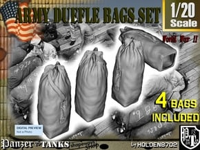 1-20 Army Duffle Bags Set1 in White Natural Versatile Plastic