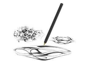 PEN 001_XYZLTD : Limited Edition (100 only) in Black Natural Versatile Plastic