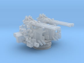 1/200 40mm Quad Bofors Mount in Smooth Fine Detail Plastic